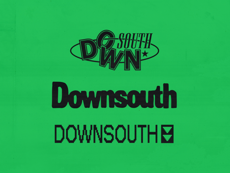 Downsouth Logo dj logo chicago music design mixtape dj music wordmark logo