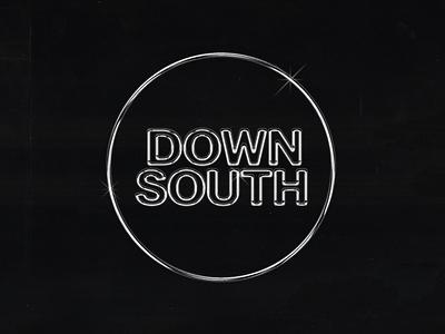 Downsouth Logo Final music chicago dj logo wordmark logo logotype logo design wordmark mixtape