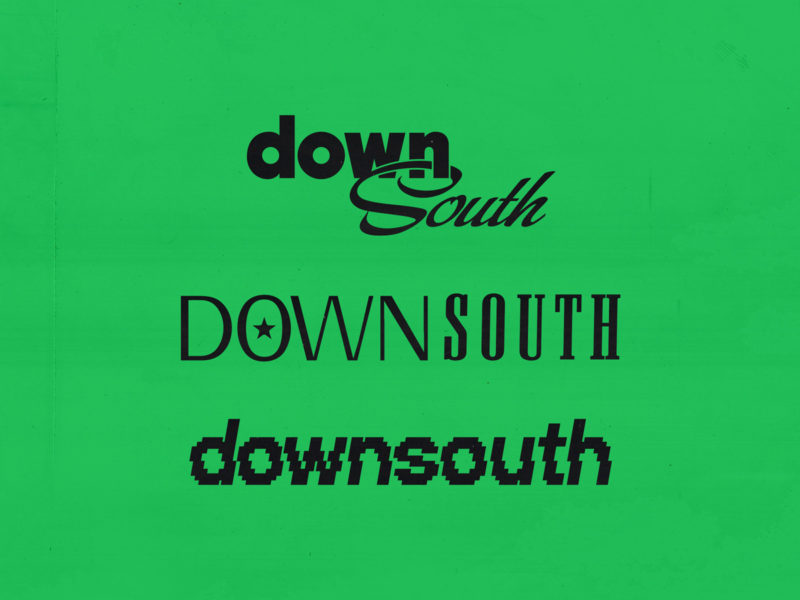 Downsouth Logo logotype wordmark music mixtapes logo design dj logo dj chicago