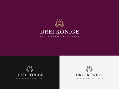 Logo for restaurant Drei Koenige restaurant design logo