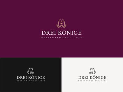 Logo for restaurant Drei Koenige restaurant design logo