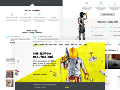 Fajn instalater construction site responsive construction design graphic ux ui