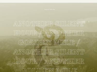 Golden State Journal typography web