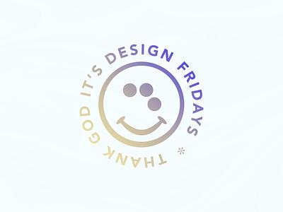 TGIDF gradient vector logo illustration typography