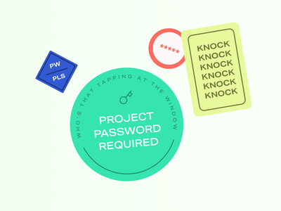 Password stickers website password illustration stickers