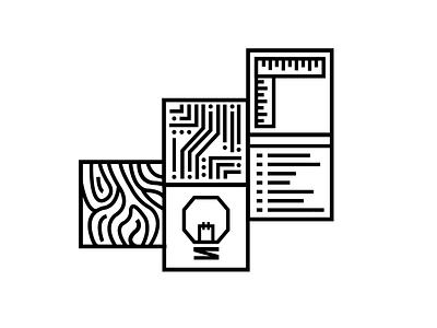 Maker squares icon branding
