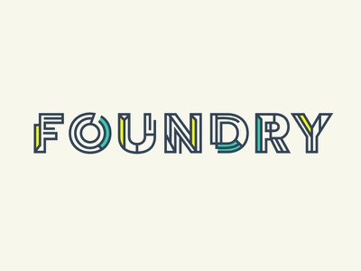 Foundry Logo letters logo typography