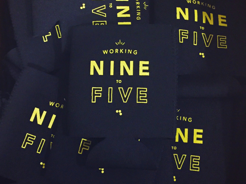 9 to 5 Koozies dolly parton branding typography koozie