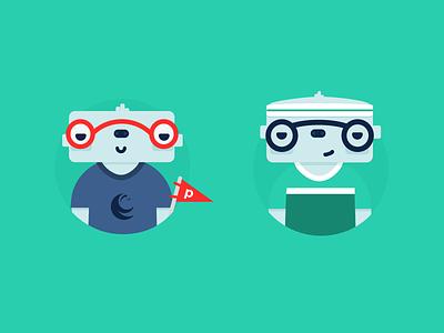 Sloth Characters flat web sloth icons branding illustration