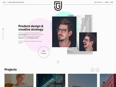 JLG Portfolio logo branding ui design webdesign portfolio