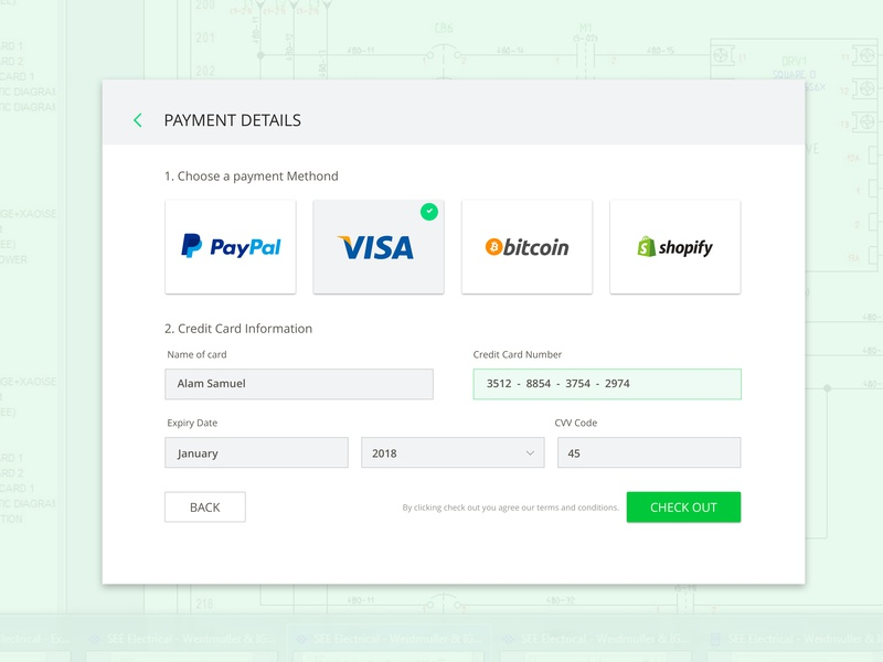 Payment Details by Alam Samuel on Dribbble