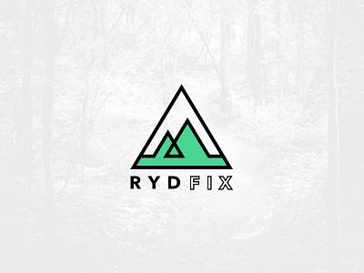 RydFix Logo mountain biking nature outdoor mountain logo mountains biking logo
