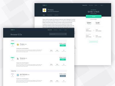 TokenHub - Dashboard + ICO Profile dashboard web cryptocurrency crypto ethereum bit eth token ico bitcoin