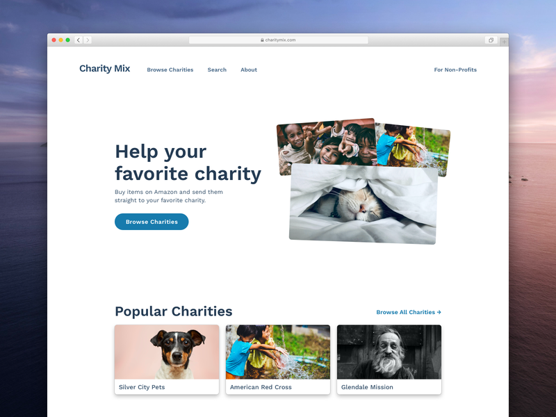 Charity Mix design ryan smith starup landing page visual design ui ux website web design