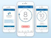 Movement Tracker visual design wellness healthcare sketch app ryan smith design mobile ui ux iphone ios