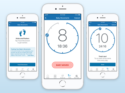 Movement Tracker visual design wellness healthcare sketch app ryan smith design mobile ui ux iphone ios
