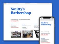 Shoreline Barber responsive responsive design web design website ui ux design mobile ryan smith