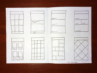Sketching Multiple Solutions sketching process iterating design ui ux mobile iphone ryan smith