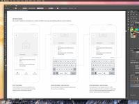 Mobile Wireframes in Illustrator