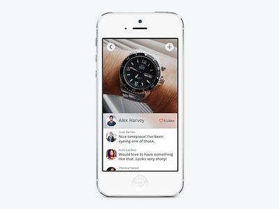Watch Shots Detail View mobile ui ux ios iphone app design