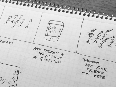 Sketching Stories ryan smith user experience design paper hackathon mobile storyboard sketching