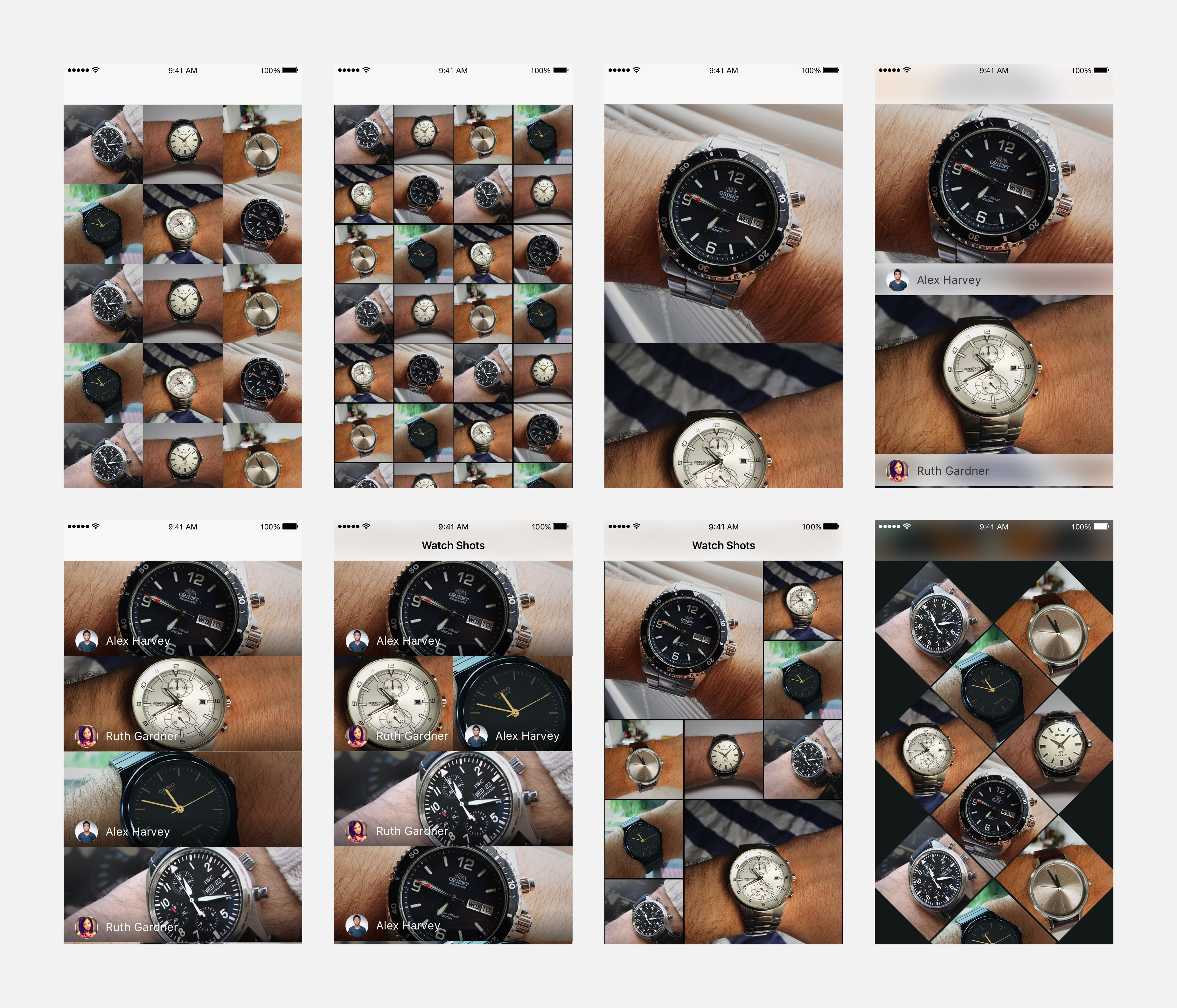 Watch shots explorations