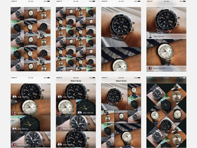 Watch Shots Explorations ryan smith sketch iphone concept design app ui ux ios mobile