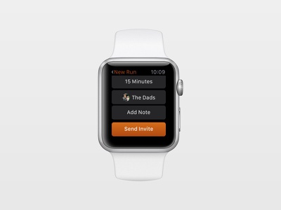 Coffee Run Watch apple watch sketch app ryan smith watchos watch concept design app ui ux product
