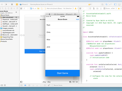 Xcode, Interface Builder, and Swift ryan smith interface builder concept design app interface ios iphone xcode swift mobile