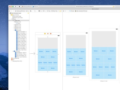 Auto Layout and Stack Views ryan smith auto layout design product app interface ios iphone xcode prototype mobile
