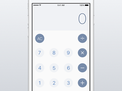 Calculator Iterations sketch app ryan smith iphone concept design app ui ux ios mobile