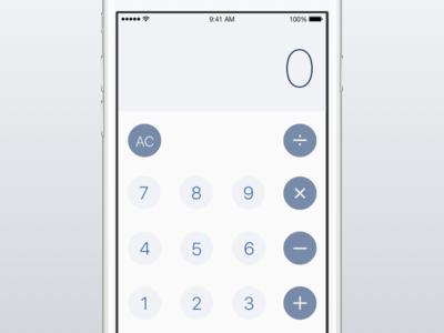 Calculator Iterations sketch app ryan smith iphone concept design app ui ux ios mobile