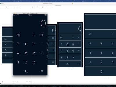 Xcode Calculator Prototype ryan smith concept design product app interface ios iphone swift xcode prototype mobile