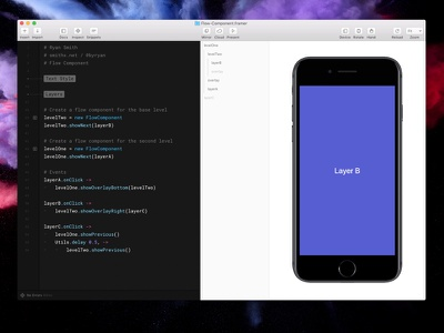 Framer Flow Component ux mobile interaction prototyping prototype framer