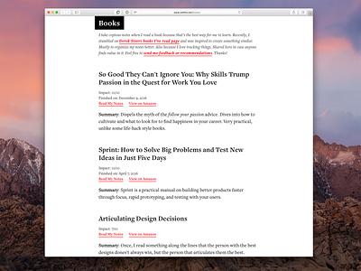 Book Notes Website desktop books ui web