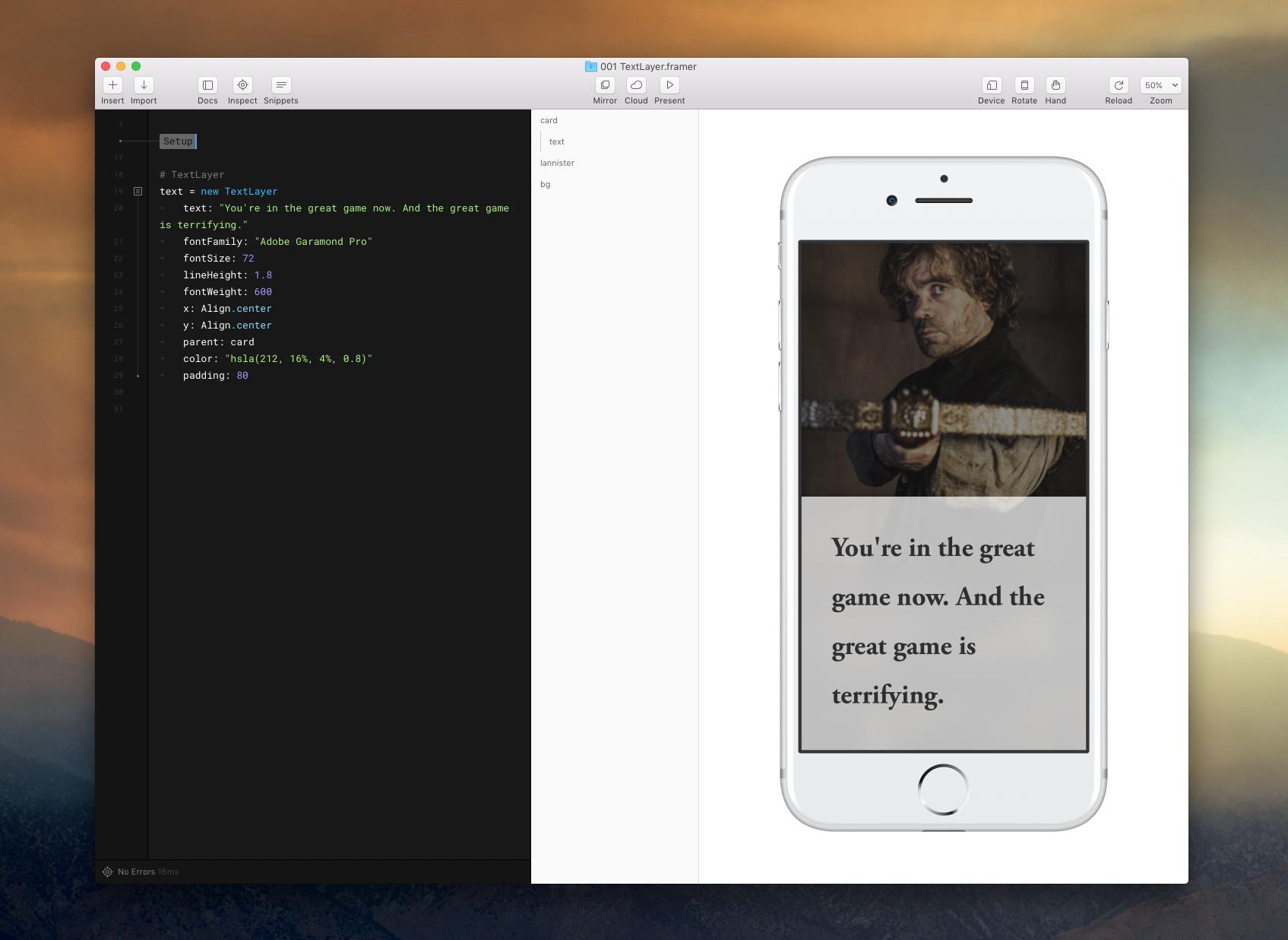 Framer textlayer 2