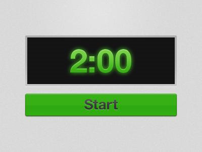 Countdown Timer timer countdown button ui green