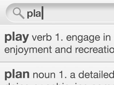 Dictionary App iphone concept dictionary search ios ui ryan smith