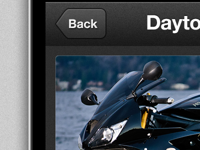 Concept Triumph Motorcycle App ios iphone ui motorcycles button back navbar image concept ryan smith