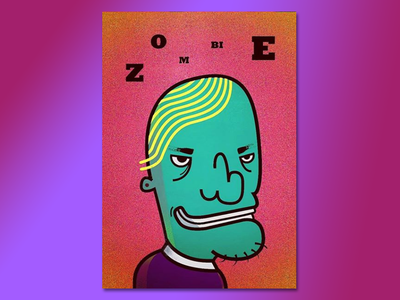 Zombie Poster design graphicdesigns poster design graphicdesign adobephotoshop adobeillustator flat illustration character vector minimal 2d poster death zombie