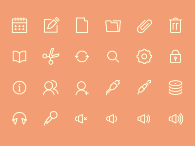 Icons microphone trash settings headphones scissors file iconset set icons app sound