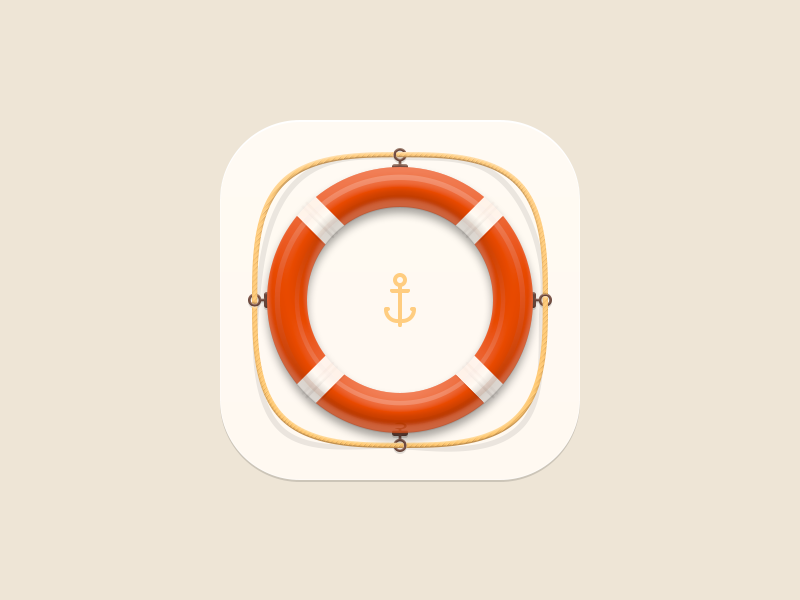 Lifebuoy icon anchor circle help lifebuoy app ui icon