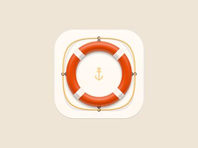 Lifebuoy icon anchor circle help lifebuoy app ui icon