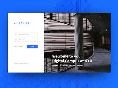 Login Screen for digital Campus web app ui minimal campus learning form login