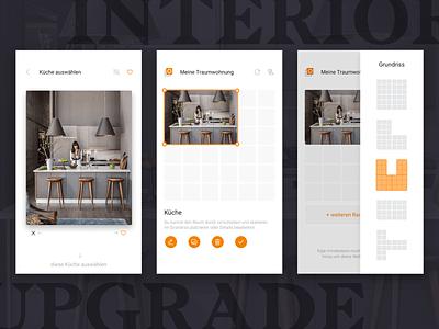 Interior design & moodboard app ui app mobile