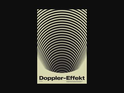 Doppler-Effekt xtian typography typographic type swiss posters poster design poster abstract graphic design