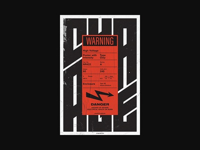 ⚡High Voltage: Charge graphic design print design poster poster design posters swiss type typographic typography xtian