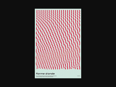 Forme d'onde op art opart xtian typography typographic type swiss posters poster design poster print design graphic design