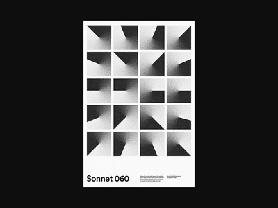 Sonnet 060 poem art xtian typography typographic type swiss posters poster design poster print design graphic design