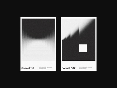 Sonnet 115 & 007 modern art abstract print xtian typography typographic type swiss posters poster design poster print design graphic design